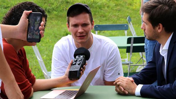 Jan Kawelke und Vasili Golod bei den Tutzinger Radiotagen