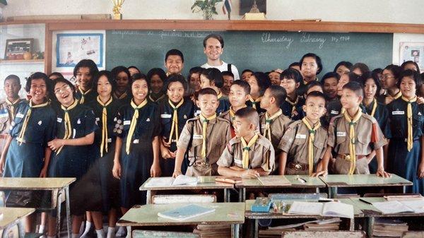 At Sriwittayapaknam School in February 1994