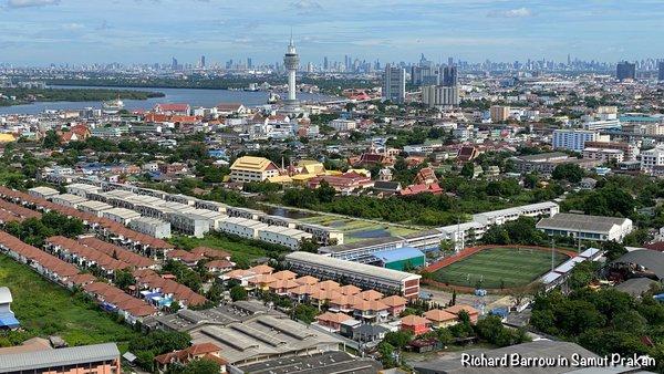 The View of Paknam from my Condo in Samut Prakan