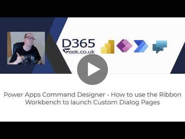 Launch Dialog with Ribbon Workbench and Command Designer - MCJ