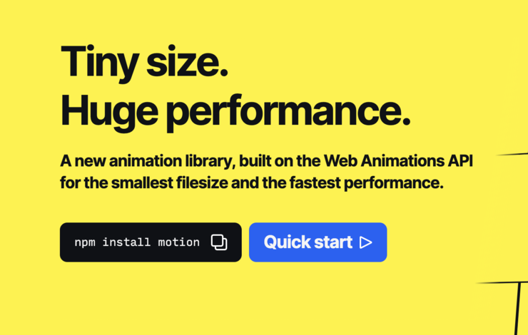 Motion One: The Web Animations API for everyone