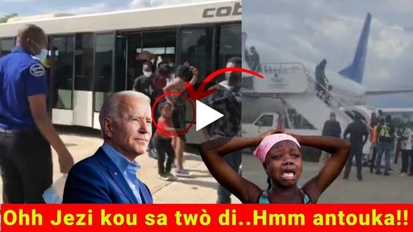 Biden trayi nou Men kòman sa ye nan Haiti...yon 3eme avion fèk rive ak konpatriòt nou yo soti Texas