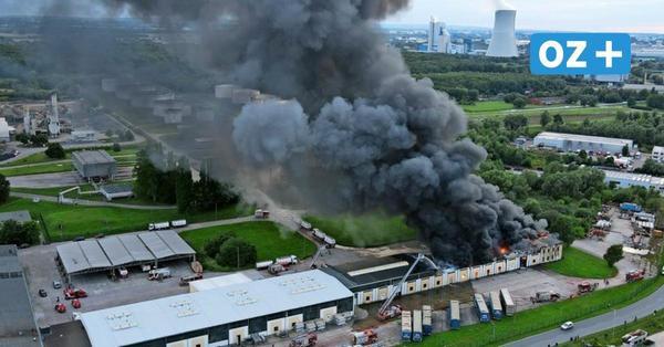 Großbrand im Rostocker Seehafen: Wie gefährlich ist die Rauchwolke über der Stadt?