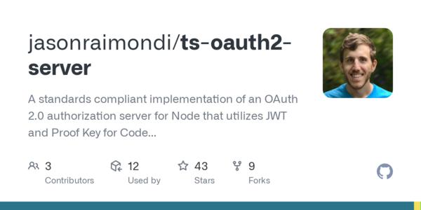 Release v2.0.0 Fastify! · jasonraimondi/ts-oauth2-server · GitHub