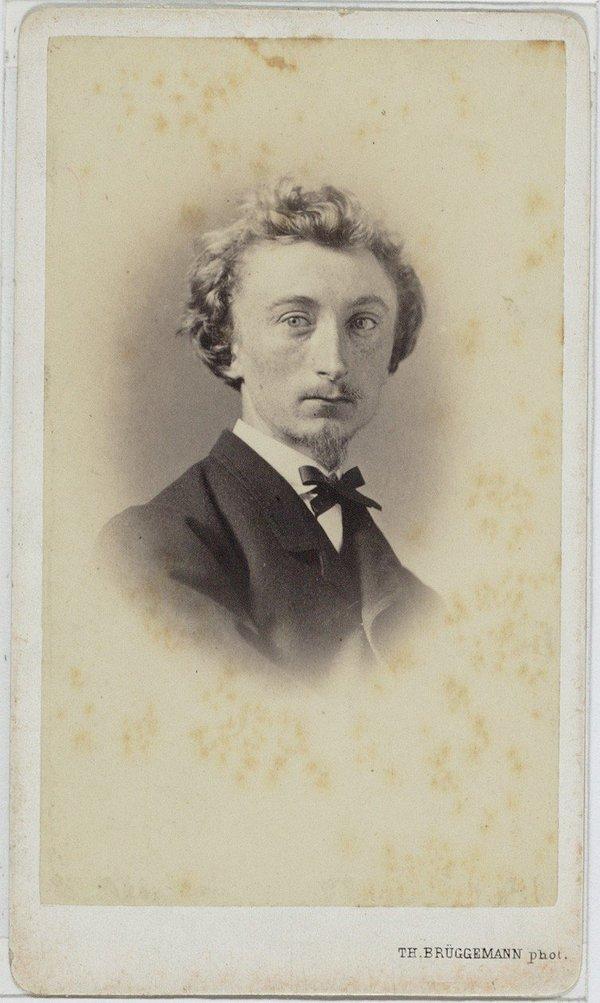 Portret van de schilder uit 1860 door Th. Brüggemann (herkomst: coll. Stadsarchief Amsterdam)