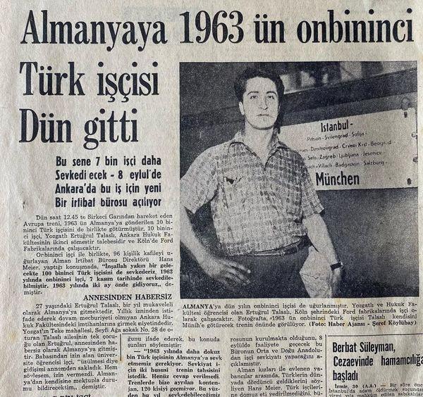 """Basın dünyasına """"Müsahhih"""" olarak adım atmış biri olarak başlığı düzelteyim: """"Almanya'ya 1963'ün on bininci Türk işçisi dün gitti"""" 😀 (Kaynak: DiasporaTürk https://www.instagram.com/p/CNNCPY0AS00/)."""