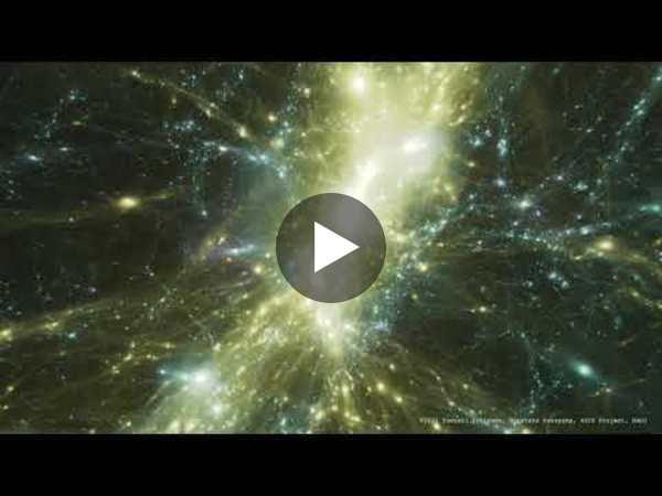Evrenin basitleştirilmiş bir simülasyonu.