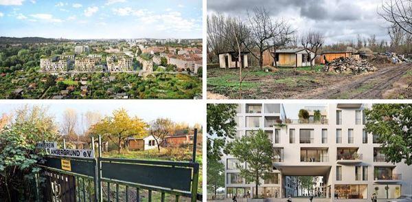 Kleingärten oder Wohnungen? Fotos: Gartenschläger/Tamax