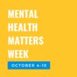 Mental Health Matters Week Events