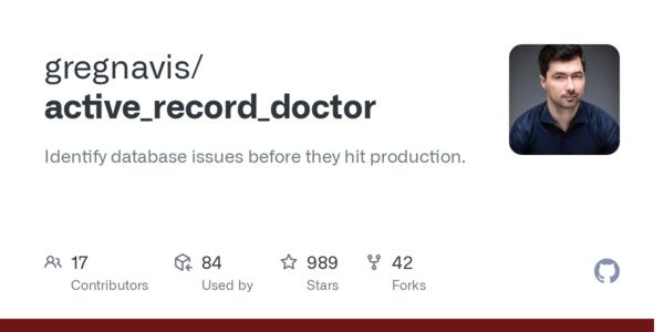 gregnavis/active_record_doctor: identifica problemas en BBDD