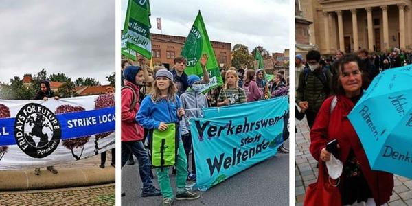 Rund 2600 Teilnehmer bei Klimastreik in Potsdam