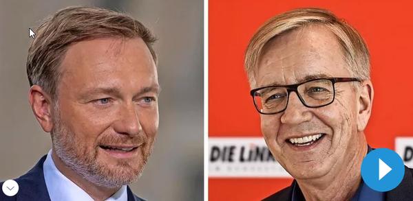 OZ-Leser-Talk: Christian Lindner (FDP) und Dietmar Bartsch (Linke) im Livestream
