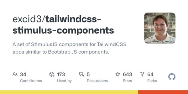 💎 excid3/tailwindcss-stimulus-components