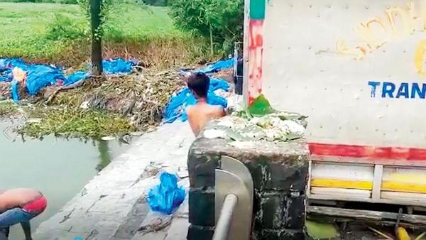 BMC dumping Ganpati idols in Powai lake, says activist