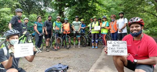 Mumbai: Opposition against Powai Lake cycle track intensifies
