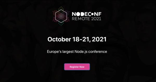 NodeConf Remote · Europe's largest Node.js conference