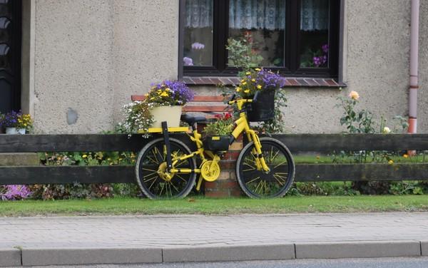 Blumenfahrrad in Rethwisch. (Foto: A. Levien)