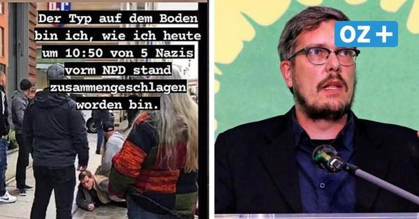 NPD-Anhänger und Grünen-Politiker geraten in Stralsund aneinander: Wer prügelt denn da?