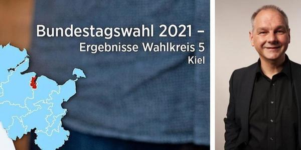 Wahlergebnisse Kiel zur Bundestagswahl 2021: Stein zieht als Direktkandidat in den Bundestag