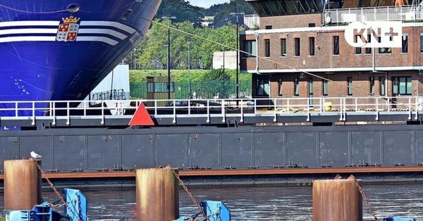 Frachter rammte in Kiel ein Schleusentor am Nord-Ostsee-Kanal