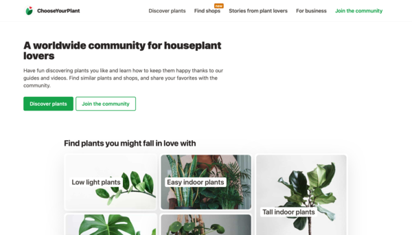 A worldwide community for houseplant lovers