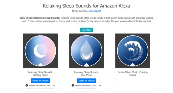 Relaxing Sleep Sounds for Amazon Alexa