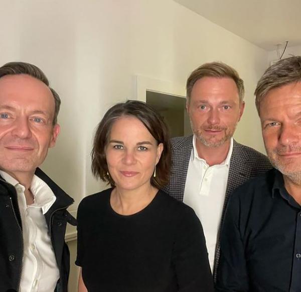 Volker Wissing, Annalena Baerbock, Christian Lindner, Robert Habeck (v.l.)