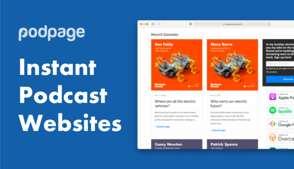 Build a beautiful podcast website in 5 minutes