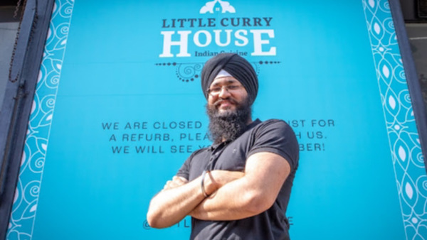 Jasdeep Singh and his new-look restaurant. Photo: Elaine Livingstone