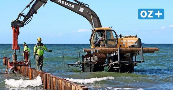 Gegen den Klimawandel: Neue Buhnen in Wustrow sichern die Küste