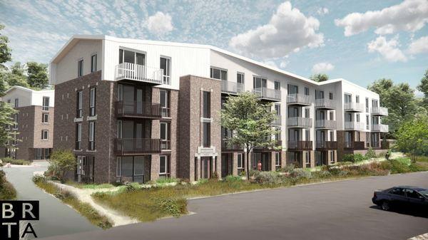 Een impressie van de appartementencomplexen. © BRTA
