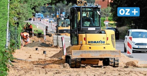 Zempin: So lange wird noch am neuen Gehweg entlang der B111 gebaut