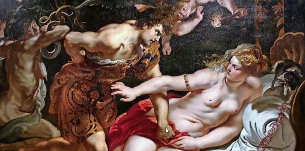 """Geraubt, verschollen, beschlagnahmt: Das Gemälde """"Tarquinius und Lukretia"""", das Rubens 1611 fertiggestellt hat. Quelle: Xommons-Wikimedi"""