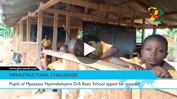 Pupils of Mpasaaso Nyamebekyere D/A Basic School appeal for support