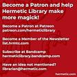 September 2020 - The Hermetic Library Blog