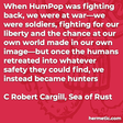 """""""When HumPop was fighting back, we were at war—we were soldiers, fighting for our liberty and the chance at our own world made in our own image—but once the humans retreated into whatever safety they could find, we instead became hunters"""""""