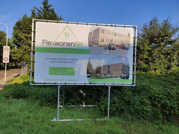 Over drie jaar verdwijnen de flexwoningen. Foto door nieuwsuitcastricum.nl