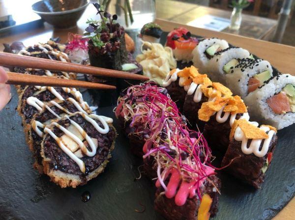 So bunte kann Sushi sein. Foto: Peter Degener