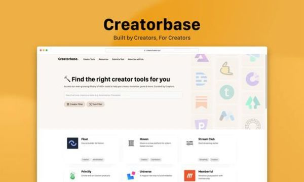 🔨 Find the right creator tools for you