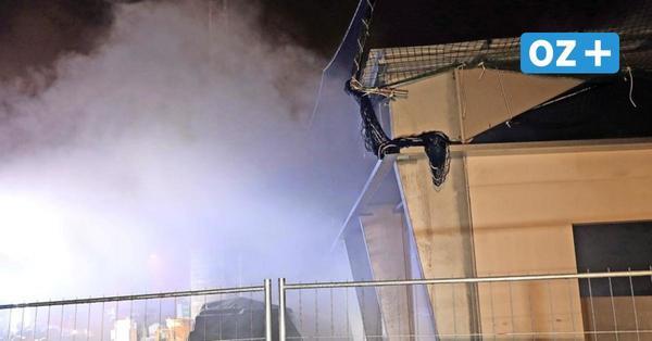 Brand auf Rostocker Baustelle: Unbekannte legen Feuer in Aldi-Rohbau