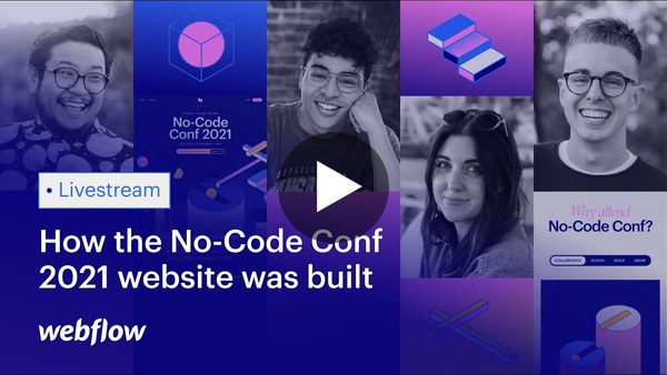Learn how the new No-Code Conf 2021 website was built