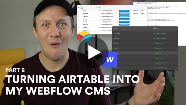 How to update Webflow Items with Airtable Scripts | Airtable to Webflow (Part 2)