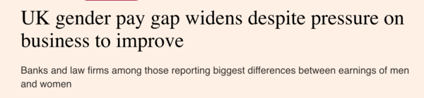 Financial Times headline from 6th October 2021