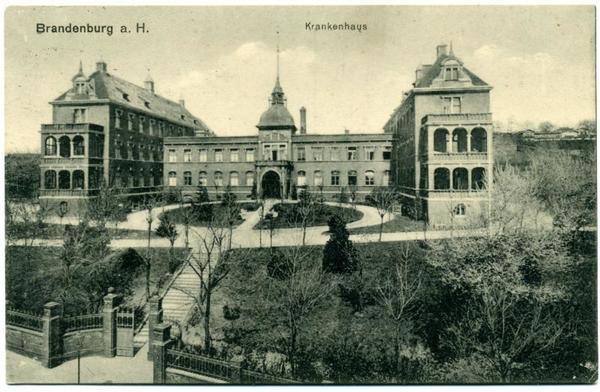 DAs Brandenburger Krankenhaus um 1915 (Foto: Hesse)