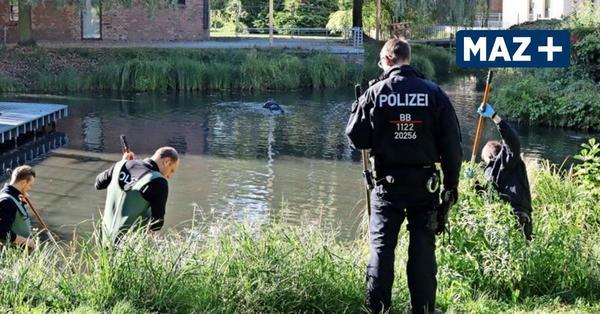 Luckenwalde: Polizeitaucher suchen im Nuthepark nach vermisster Milina K.