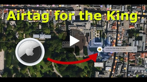 Sending an Apple Airtag to the king of the Netherlands
