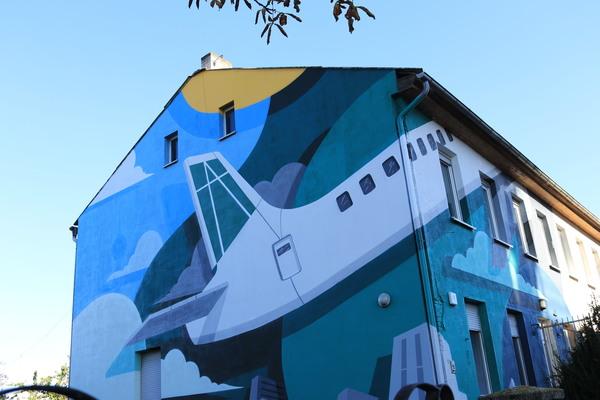 Schönefelds neues Street-Art-Kunstwerk. Foto: Nadine Pensold