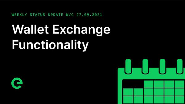 Weekly Update: W/C 27th September, 2021