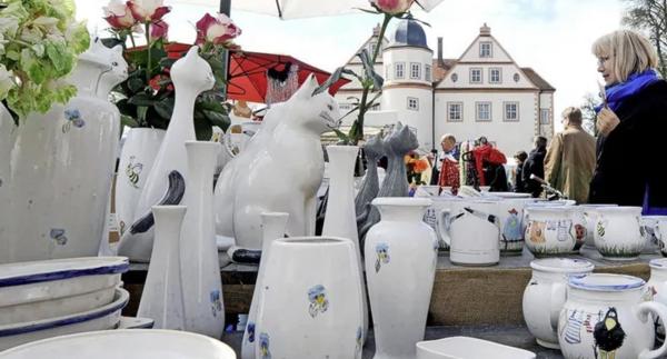 In Königs Wusterhausen findet ein Keramikmarkt statt. Foto: Gerlinde Irmscher