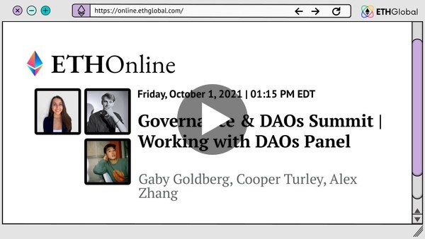 Working for DAOs